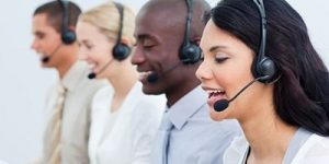 People in a call center